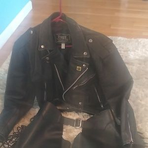 FIRST Genuine Leather Other - FIRST Genuine Leather motorcycle jacket & chaps